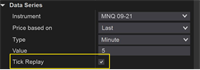 NinjaTrader - Enable Tick Replay within Strategy Analyzer